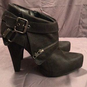 Women's Aldo size 39 (9) black suede booties.